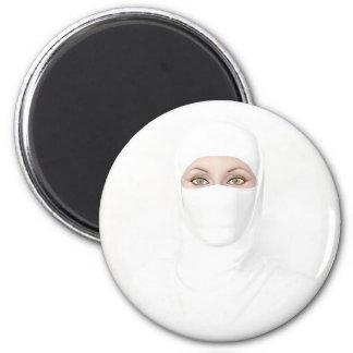 white 2 inch round magnet