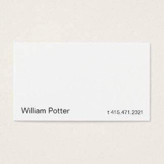 White 2b business card