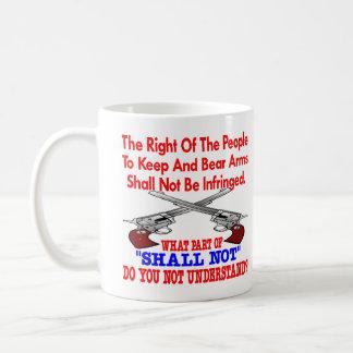 White 2nd Amendment Not Understand Coffee Mug