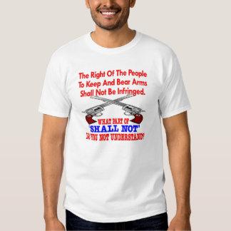 White 2nd Amendment Not Understand T-shirt