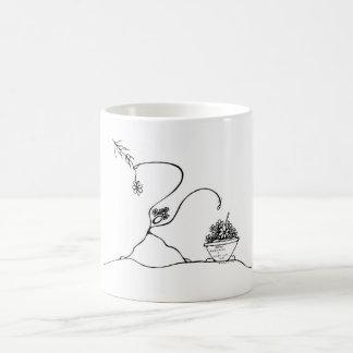 White 325 ml  Classic White Mug. Planting. Coffee Mug
