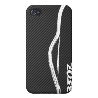 White 350z Brush Stroke iPhone 4 Cover