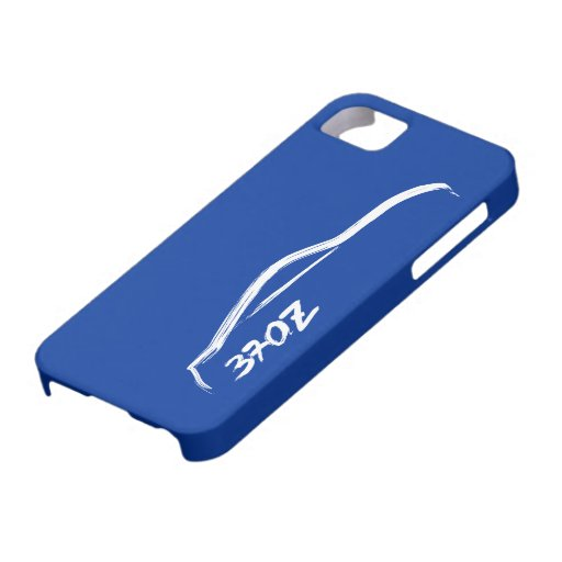 White 370Z Logo with blue background. iPhone 5 Covers