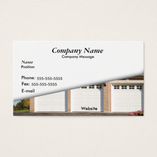 White 3 Car Garage Business Card