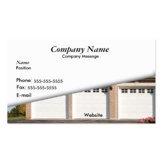 White 3 Car Garage Double-Sided Standard Business Cards (Pack Of 100)