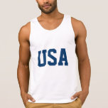 White 4th of July tank top t shirt | USA apparel Tanks