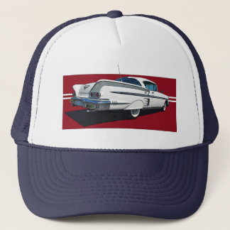 White '58 Impala truckers hat