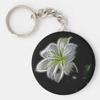 white-82698 white lily flower nature beauty digita key chains