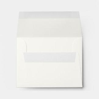 White A2 Linen Envelope