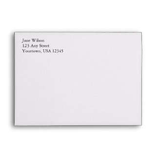 White A7 5x7 Envelopes With Return Address