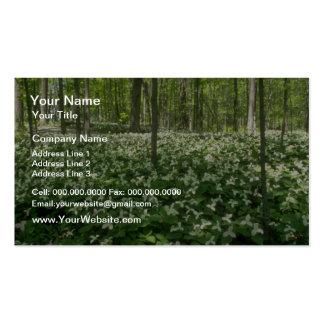 white A field of trilliums, Niagara Falls flowers Business Card