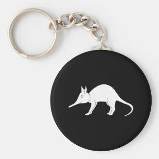 White Aardvark. Cute animal. Keychain