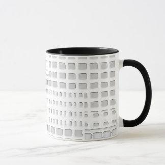 White abstract design mug