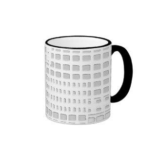 White abstract design ringer mug