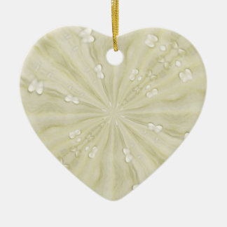 White abstract heart ornament