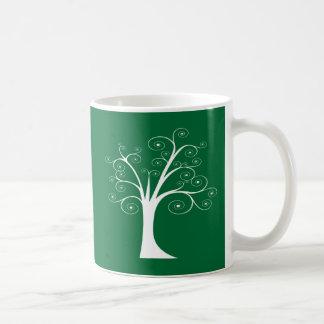 White Abstract Tree Coffee Mug