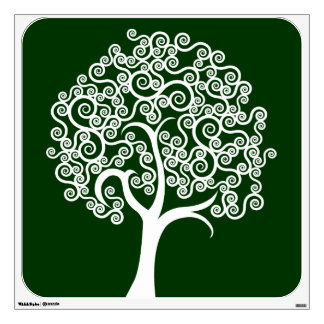 White Abstract Tree Wall Stickers