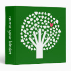 White Abstract Tree with Pink Heart Binder