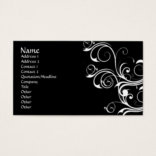 White Abstract Vintage Business Card