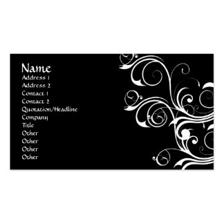 White Abstract Vintage Double-Sided Standard Business Cards (Pack Of 100)