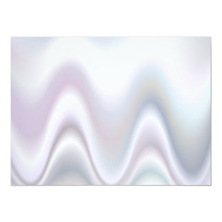 White abstract wave design card