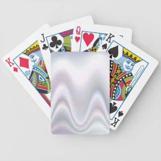 White abstract wave design bicycle playing cards