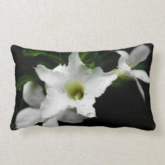 White Adenium Throw Pillow