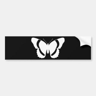 White Admiral Butterfly Symbol Custom Bumper Sticker