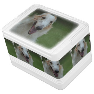 White Afghan Hound Cooler