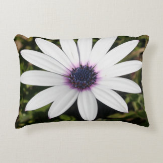 White African Daisy Accent Pillow