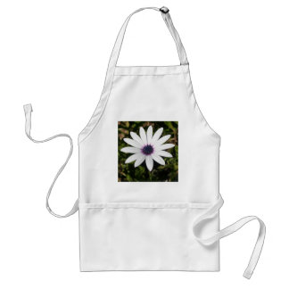 White African Daisy Adult Apron