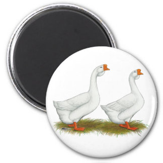 White African Geese 2 Inch Round Magnet