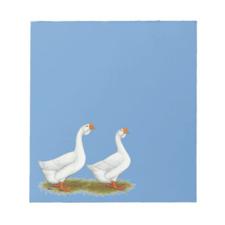 White African Geese Memo Note Pad