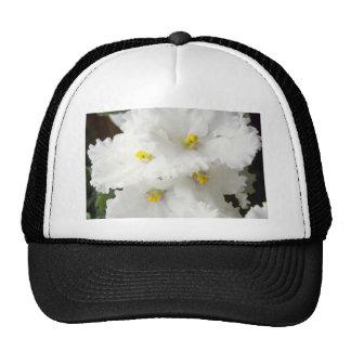 white African violet Garden Hews flowers Trucker Hat