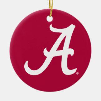 White Alabama A Ceramic Ornament