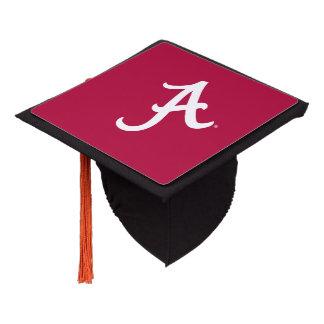 White Alabama A Graduation Cap Topper