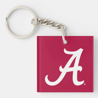 White Alabama A Keychain