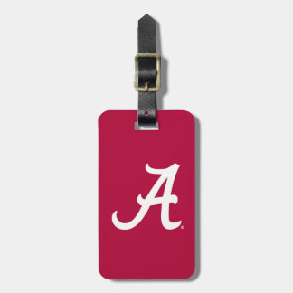"White Alabama ""A"" Tag For Bags"