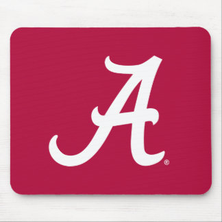 White Alabama A Mouse Pad