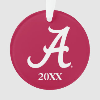 White Alabama A Ornament