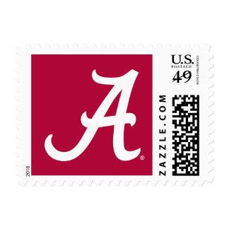 White Alabama A Postage Stamp