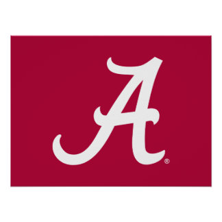 "White Alabama ""A"" Poster"