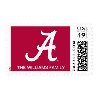 White Alabama A Stamp