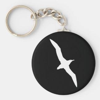 White Albatross Bird In Flight Keychain
