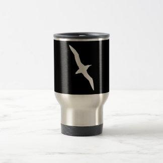 White Albatross Bird In Flight 15 Oz Stainless Steel Travel Mug