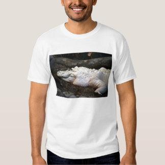 white albino alligator watercolor style image t-shirt