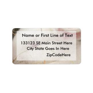 White albino netherland dwarf rabbit head custom address labels