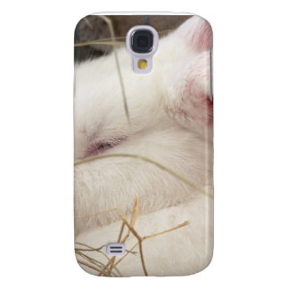 White albino netherland dwarf rabbit head samsung galaxy s4 cover