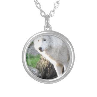 White albino wolf spirit - Therian gifts Custom Necklace
