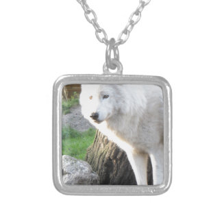 White albino wolf spirit - Therian gifts Necklaces